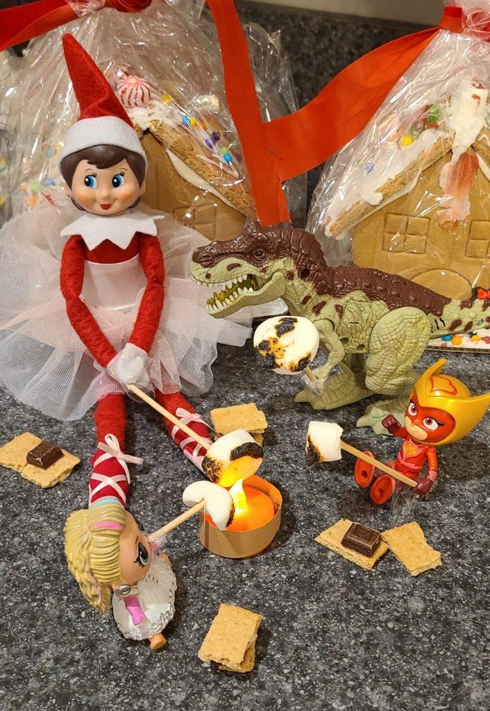 Elf on the Shelf making smores